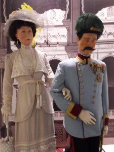 Thronfolger Österreich-Ungarns, Erzherzog Franz Ferdinand, und seine Gemahlin